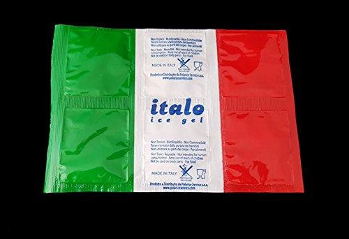 Ghiaccio sintetico in confezione da 25 fogli da 6 cellette ITALO inattivate Dim. cm. 20x14 (1 FOGLIO ATTIVATO PESA 220 GR.) .Made in Italy