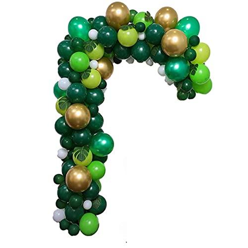 VDSOIUTYHFV Kit de Guirnalda de Arco de Globo Verde, Globos Verdes, Safari en la Jungla, Tropical, Salvaje, Primer Tema, cumpleaños, decoración para Fiestas