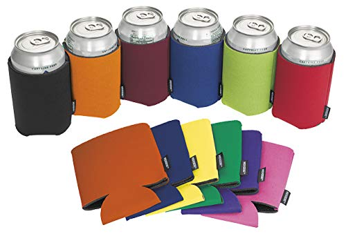 Koozie Can Cooler Blank Foam Sleeve Bottle Holder - authentic insulators Great for DIY Projects for Wedding, Bachelorette Party, Birthdays - Pack of 12 (Multi-color, 12)