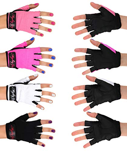 Mighty GripPole Dance Gloves White Non Tacky (Small)