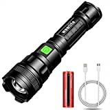 Rechargeable Flashlight, Wowlite S1600 LED Flashlight - High Lumen, Zoomable, 3 Modes, 18650