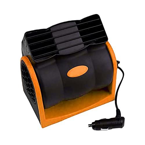 ZCXIONG 12V 24V Car Cooling Air Fan Electric Car Fan Speed Adjustable Silent Air Vent Conditioner Cooling Fans For Car SUV Truck Boat (Color Name : Orange 24V)