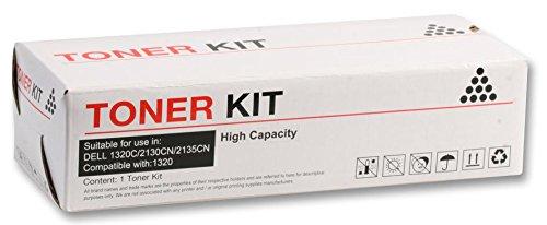 Toner, kompatibel Dell 1320C/Cn, Schwarz, Verbrauchsmaterial kompatibel, Druckermarke Dell, Farbe Schwarz