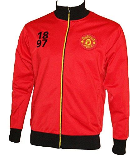 Manchester United Trainingsjacke mit Reißverschluss, offizielle Kollektion, Erwachsenengröße, Herren - XXL