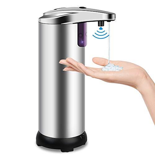 opamoo Seifenspender Automatisch Desinfektionsspender Berührungsloser mit Sensor Infrarot Elektrischer Seifenspender 210ml Automatischer Seifenspender für Badezimmer Küchen Hotel Restaurant