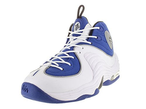 Nike Mens Air Penny II Cllg Blue/Blk/Metallic Slver/White Basketball Shoe 9 Men US