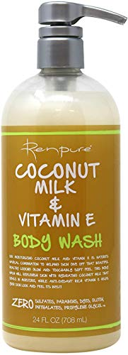 Renpure Coconut Milk & Vitamin E Body Wash, 24 Ounces