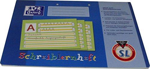 Oxford Schreiblernheft A4 quer Lineatur SL VE=16 Blatt (blau)