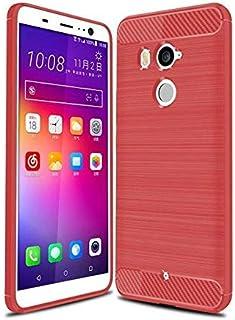 كفر حماية كاربون فايبر مخطط مرن لون أحمر لجوال إتش تي سي يو11 بلس  HTC U11 PLUS
