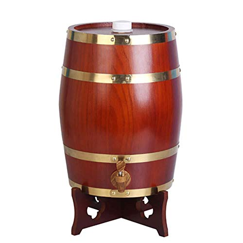 AXYQ Vino Roble Barril / 5L-50L Bar Restaurante Barril De Vino De Madera Bodega Cerveza Barril De Almacenamiento De Vino con Grifo/Permanente,D-5L