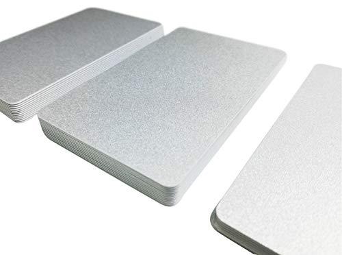 Plastikkarten Silber | Premium Qualität aus Deutschland | Wahlweise zwischen 5-500 Stück | Lebensmittelecht | EC-Kartenformat | Blanko PVC Karten | NEU!