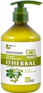 OHerbal Acondicionador Cabello/Pelo Rizado Y Rebelde Hidratante Natural Ecológico Sin Sulfatos Ni Siliconas Con Extracto ...