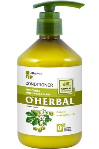 O'Herbal Acondicionador Cabello/Pelo Rizado Y Rebelde Hidratante Natural Ecológico Sin Sulfatos Ni Siliconas Con Extracto De Lúpulo O'Herbal 500Ml 500 ml