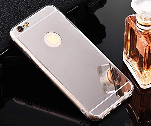 Miagon Custodia Specchio per iPhone 8 (4,7'),Cover Silicone per iPhone 7 (4,7'), Morbido Specchio Effetto Argento Silicone Protettiva Cover Copertureper iPhone 7/8 (4,7')