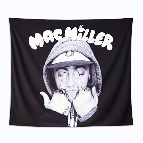 MG MRAGO Mac Miller Tapestry, Mac Miller Poster 3D Retro Art Tapestry Wall Hanging Pop Art Wall Tapestry Home Decorations for Living Room Bedroom Dorm Decor (SIZE:59.1 x 51.2 inches)