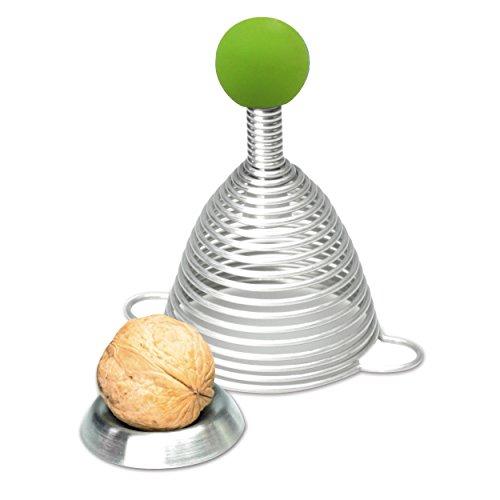 Take2 Edelstahl Nussknacker NAOMI mit grüner Gummikugel