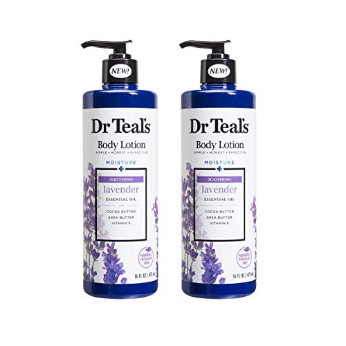Dr Teal's Body Lotion Moisture plus Soothing Lavender, 16 fl oz Pack of 2