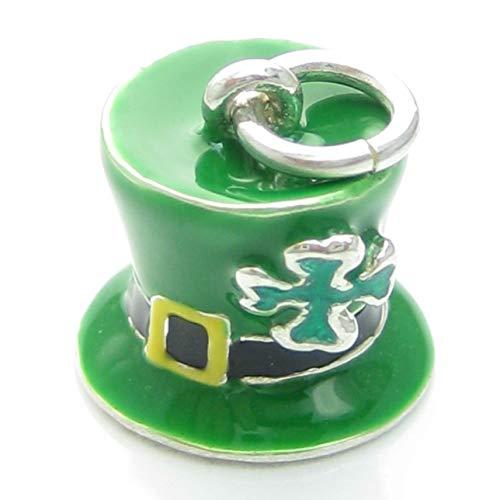 Irisch Glück Hut Sterlingsilber Amulett .925 x 1 Irland Kobold Mütze pjpc545