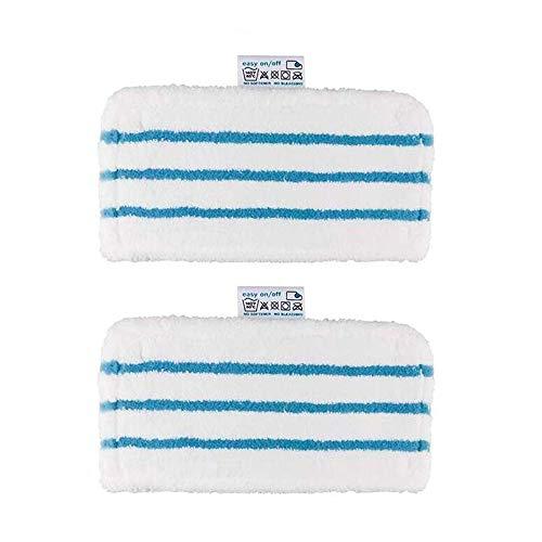 Kalavika Lot de 2 Lingettes Microfibres Lavables de Rechange pour Balais Vapeur Black+Decker, 2 Lingettes Microfibres Chiffrons Remplacement Rectangulaires