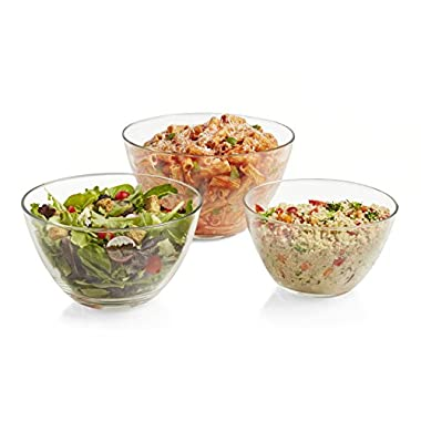Libbey Urban Story 3 piece MultiSize Glass Bowl Set