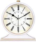 Reloj de pared de bricolaje, reloj de pared, reloj de pared Reloj de mesa de estilo europeo clásico Retro Mudo Decoración de sala de estar Reloj de escritorio Dormitorio creativo Reloj de cabecera de