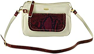 Kaizer KAT1854RED leather shoulder bag for Women - Red and White