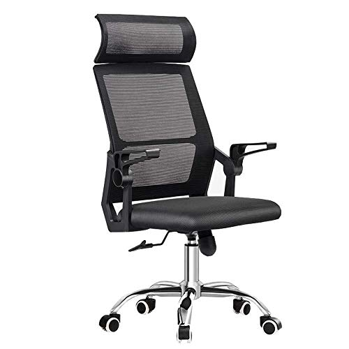 XKKD stoel mesh hoge rug draaibare bureaustoel computer stoel brede hoofdsteun en Lumbar ondersteuning Home Study stoel roterende leuning gaas conferentie stoel lager capaciteit 260 lbs zwart
