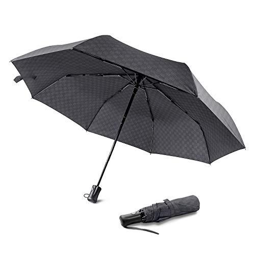 Regenschirm Automatischer boy ® Taschenschirm mit 8 Edelstahl-Rippen Windsicher & Sturmfest, windtest bei 140 km/h, Kompakt, Leicht& Stabiler Reise Taschenschirm für Frauen und Männer, Gitt
