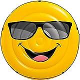 Bavaria Home Style Collection Aufblasbare Luftmatratze Gesicht Smile - Pool-Insel - Insel Badeinsel...