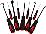 GPR Precision Scraper, Hook, and Pick 9-Piece Set – Small 6.5in and Large 10in Automotive and Electronic Tools