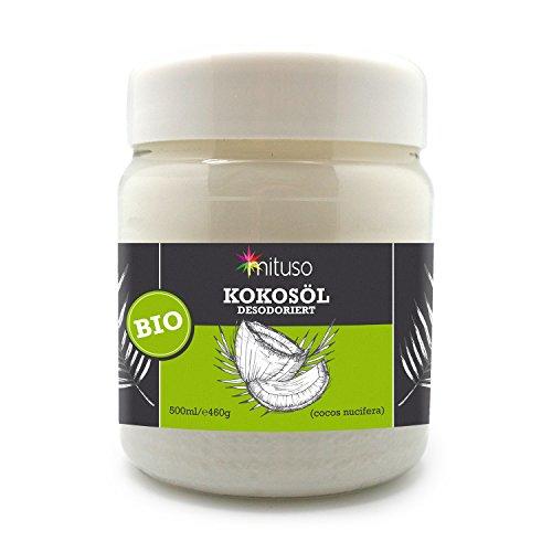Mituso Aceite De Coco Mituso, Insípido (Desodorizado) 1 Paquete En Una Práctica Lata 500 ml