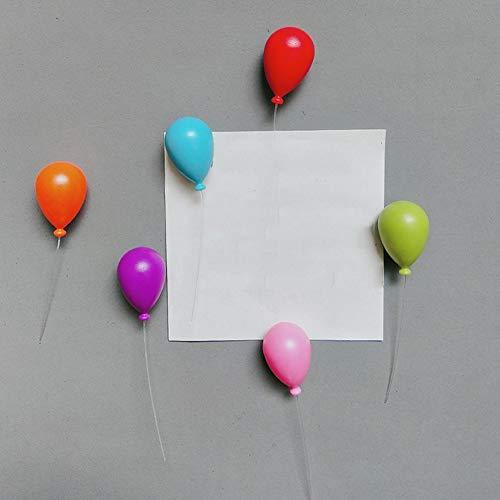 Lorenory Magneten voor kinderen, 12 stuks, draagbare ballonvorm, leuke handwerkaccessoires, mini noot, decoratie, koelkastmagneet, huis, whiteboard, berichthouder, ABS-kunststof