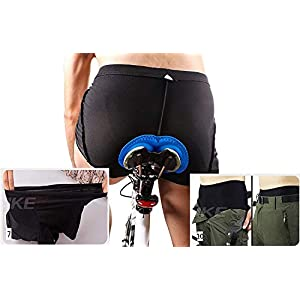 COZONE Pantalón Corto para Bicicleta Hombre Pantalón Corto para Hacer Ciclismo 3D Gel Ropa Interior de Bicicleta MTB Acolchado Pantalónes Cortos Antideslizantes y Transpirables (XL)
