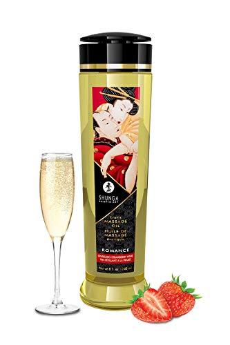 Shunga Pareja Masaje Olie Espumoso Vino Stawberry 240 Ml 260 g