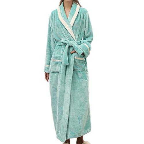YRTHOR Flanell Winter Warme Schlaf Roben Pyjama Sets Lange Bademantel Bademantel...