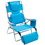 Rio Beach Face Opening Sunbed High Seat Beach Chair & Lounger - Turquoise