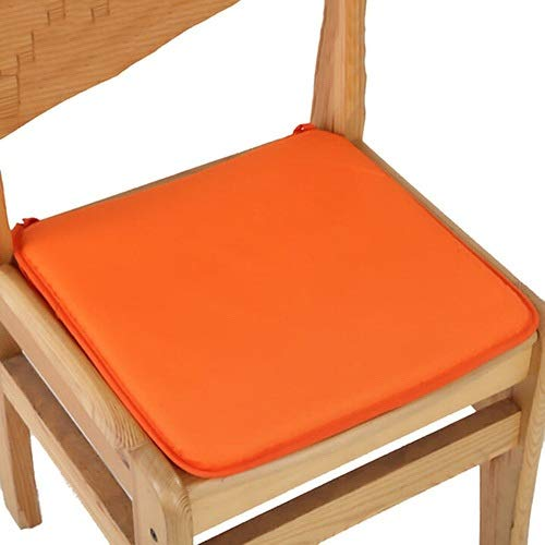 YINJIESHANGMAO 7 Colors 40x40cm Cotton Blend Cushions Dining Garden Home Kitchen Office Chair Seat Pads Cushion (Color : Orange, Size : 40x40cm)