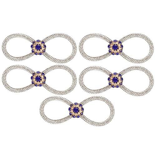 SALUTUYA Broche de Diamantes de imitación Azul Real Exquisito para decoración de Bricolaje