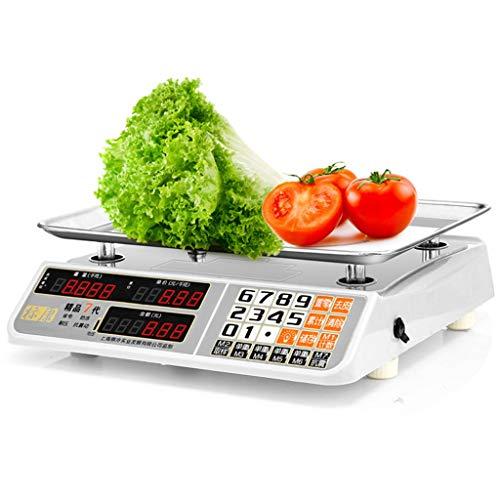LBBL Báscula Cocina Báscula Digital, Acero Inoxidable Sistema Sensor de Alta Precisión 50kg/10g Función de Tara Para Hostelería, Bollería, Frutería (Size : 50kg)