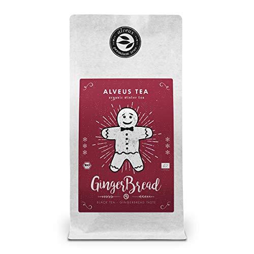 """Wintertee Lose Bio Tüte mit Lebkuchen Geschmack """"Gingerbread"""" - Schwarzer Tee mit Datteln und Gewürze von alveus Premium Teas – ca. 40 Tassen (100 Gramm)"""