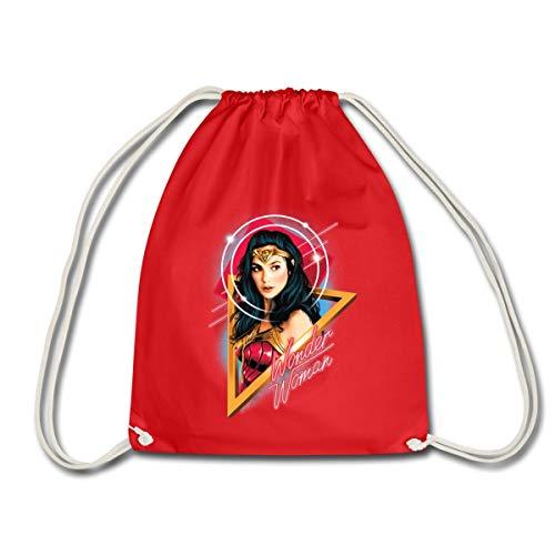 Spreadshirt Wonder Woman 1984 Portrait Sac À Dos Cordon, rouge