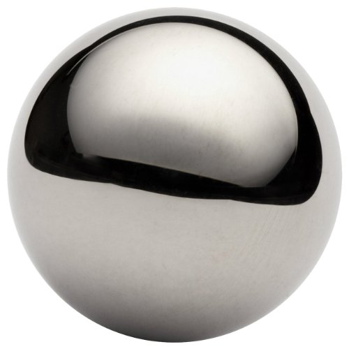 302 Stainless Steel Sphere, Grade G100, Mirror-Like Finish, Precision Tolerance, A493, 0.344