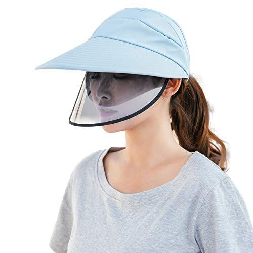 FEOYA - Sombrero Mujer Verano con Visera Pantalla Protectora Ajustable para la...