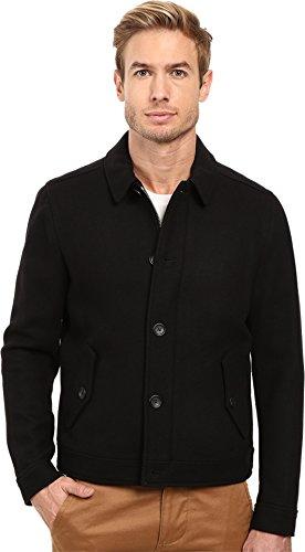 COACH Eisenhower 85236 Black Wool Button Zip Mens Jacket Coat (M)