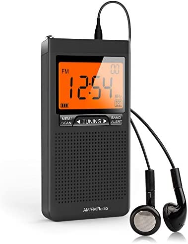 AM FM Portable Radio Personal Radio with Excellent Reception Battery Operated by 2 AAA Batteries product image