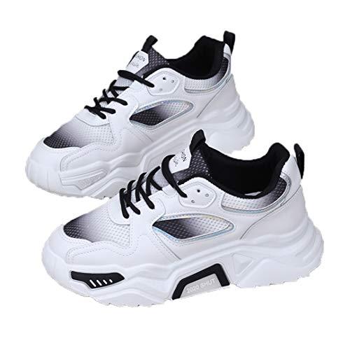 DogensHonz Mujeres Malla de Verano Transpirable Zapatillas de Deporte Plataforma Lady Plataforma Casual Vulcanize Zapatos Black 35