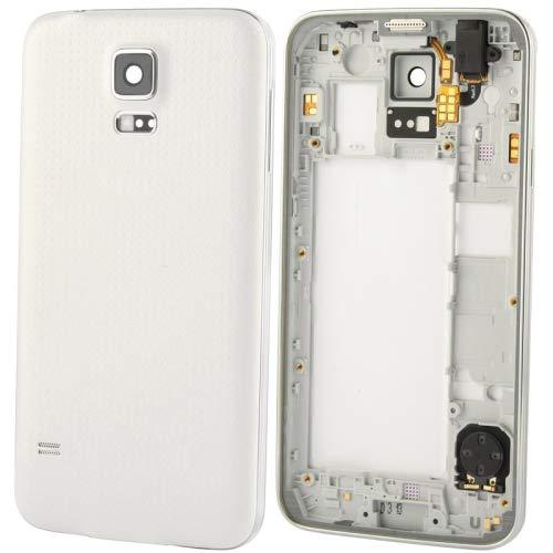 YEYOUCAI Piezas de reparación de teléfonos celulares Placa Central LCD con Cable de botón y Cubierta Trasera, para Galaxy S5 / G900