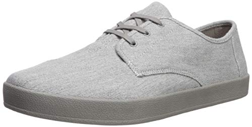 TOMS Men's Paseo Sneaker, Drizzle Grey Twill Chambray, 7 Medium US