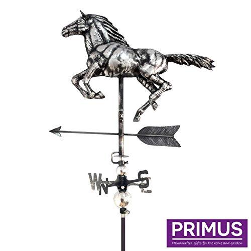 A. Perry PY0610 3D-Wetterfahne Pferd mit Gartenstecker 53 x 12 x 156 cm