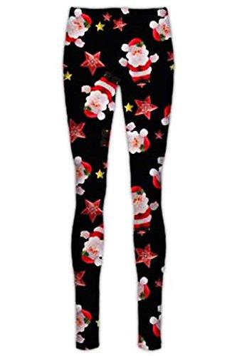Be Jealous Girls Xmas Rudolph Reindeer Penguin Leggings Santa & Stars Black Age 7/8 years